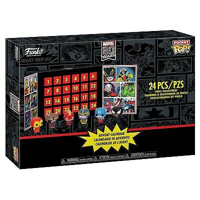 Funko - Advent Calendar: Marvel 24 Pieces (Pocket POP) Brand New In Box