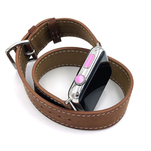 Dot Crown for Apple watch crown sticker dot pink color cover, set of 8