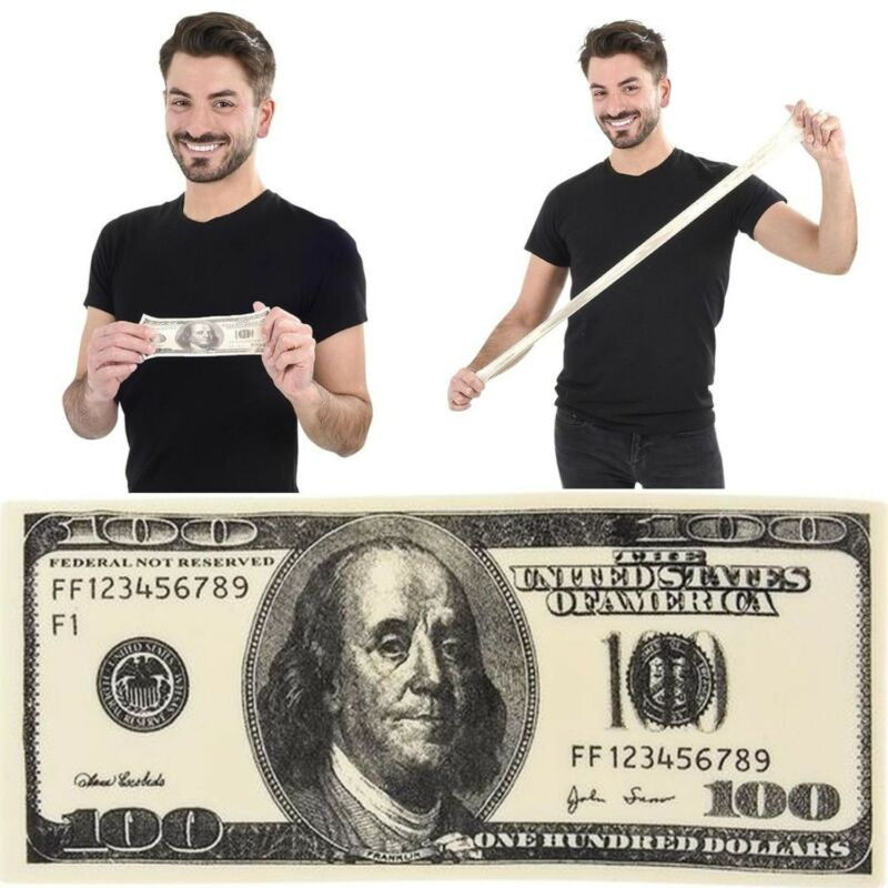 STRETCHABLE $100 Hundred Dollar Money Bill - Novelty Toy GaG Magic Trick Joke
