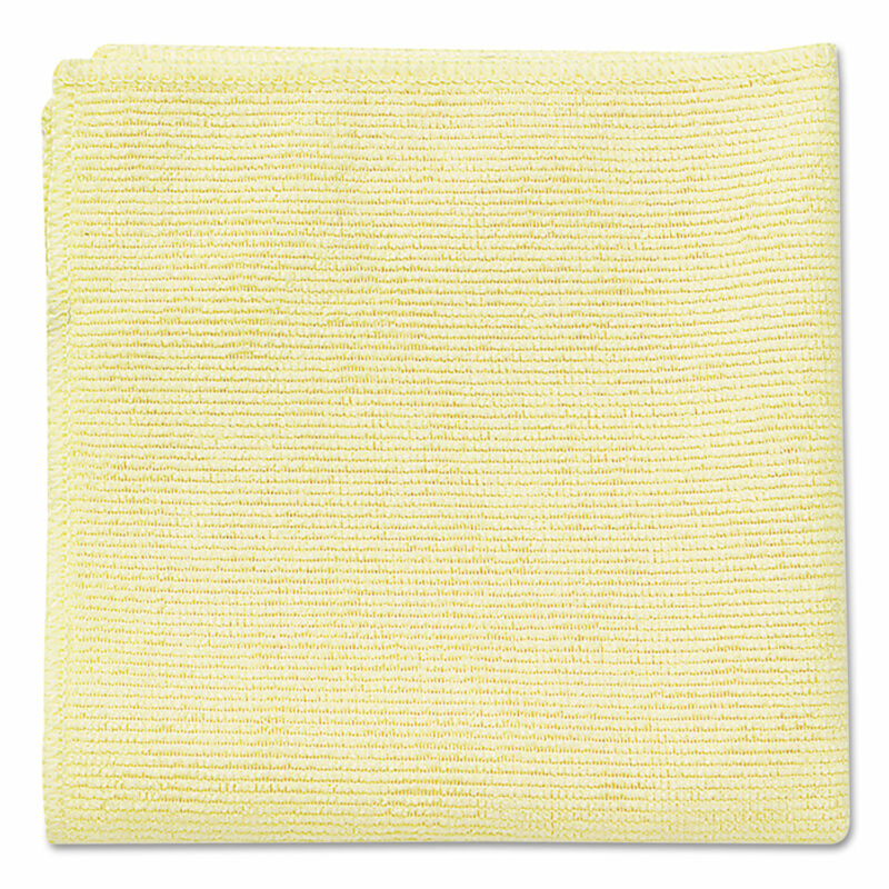 Rubbermaid Commercial Microfiber Cleaning Cloths 16 x 16 Yellow 24/Pack 1820584