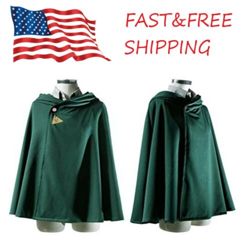 Japanese Anime Shingeki No Kyojin Cloak Attack on Titan Cosplay Cape Cloth USA