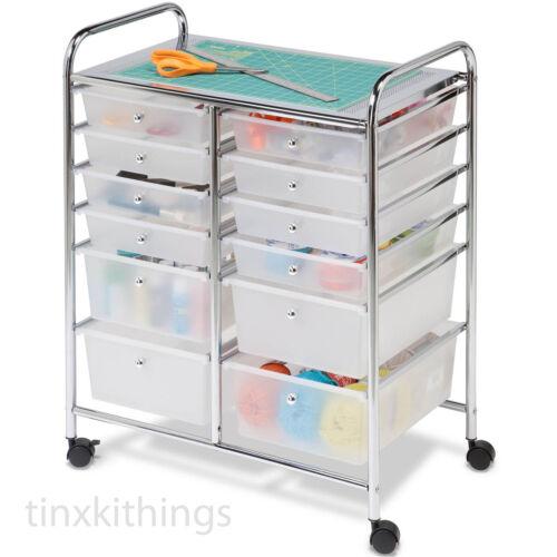 Rolling Mobile Cart Drawer Organizer Storage Art Craft Office School Supplies US