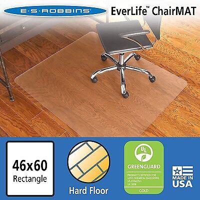 Es Robbins Chair Mat For Hard Floors 46 X 60 No Lip Clear