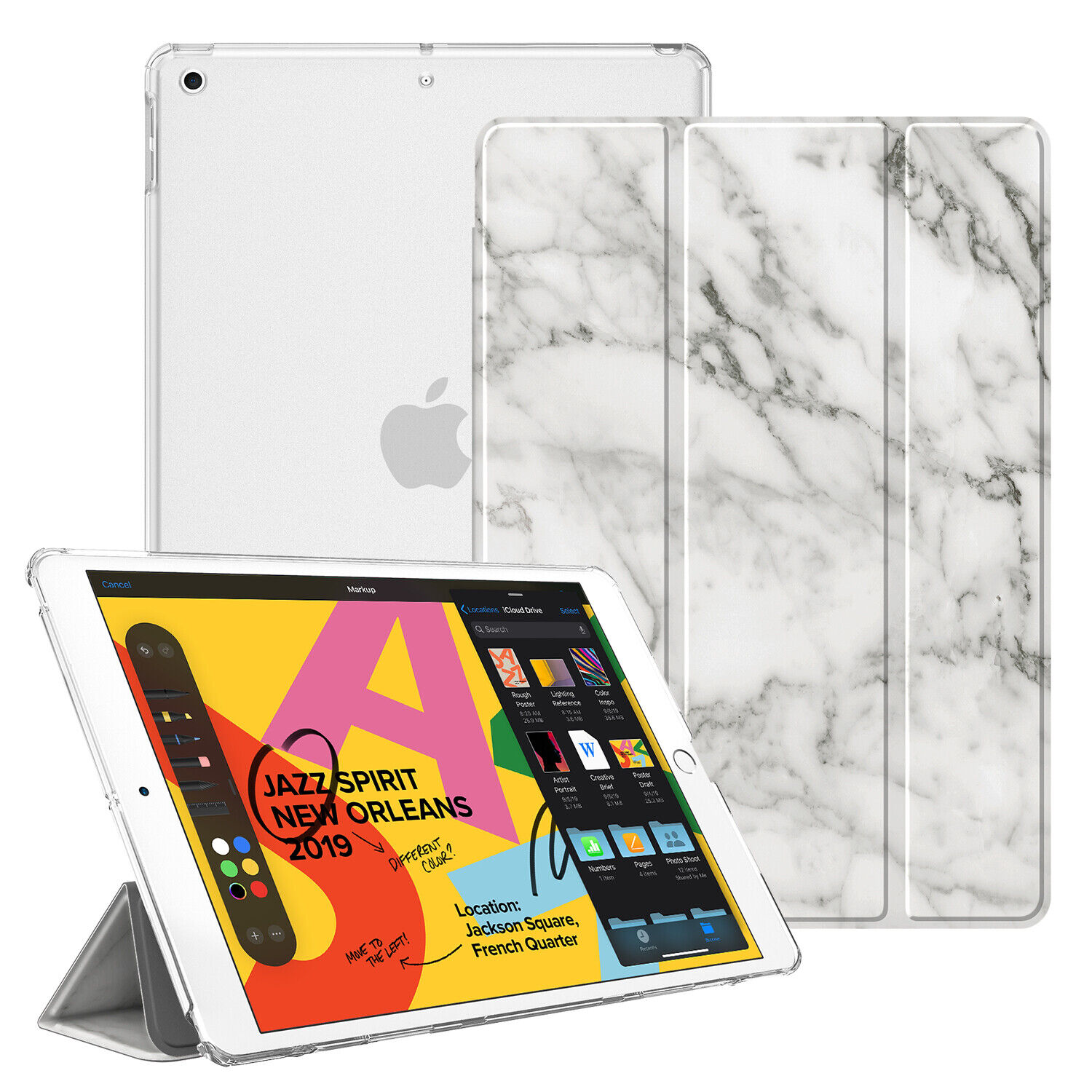 """For iPad 7th Gen 10.2"""" 2019 Case Slim Lightweight Stand Cove"""