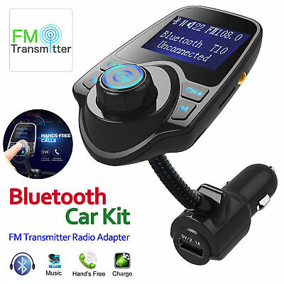 Wireless Bluetooth Fm Transmitter Radio Adapter Hands Free Car Kit Usb Charger