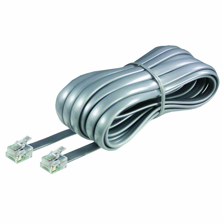 Softalk 46625 Phone Line Cord 25-Feet Silver Landline Teleph