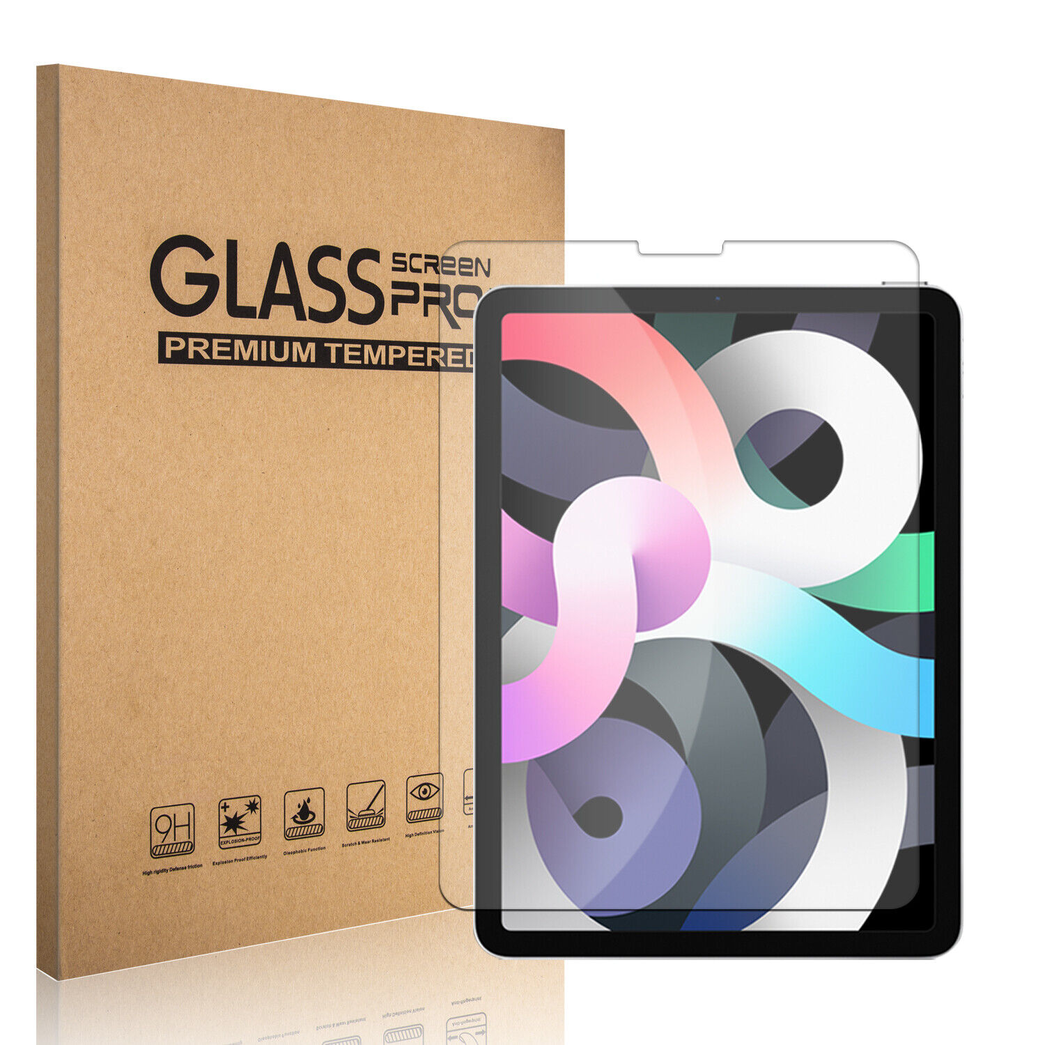 """For iPad Air (2020) 10.9"""",4th Generation Case With Stand Cover,Screen Protector Cases, Covers, Keyboard Folios"""