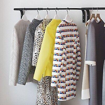 Clothes Bar Adjustable Width Multi Purpose Wall Hanging Closet Organizer Rack...