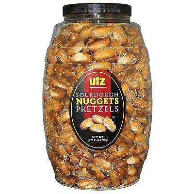 Sourdough Pretzel Nuggets (Utz Sourdough Nuggets Pretzel Barrels, 52 oz)