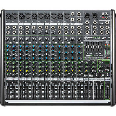 NEW Mackie PROFX16V2 16-Channel 4-Bus Effects Mixer with USB Recording/Playback