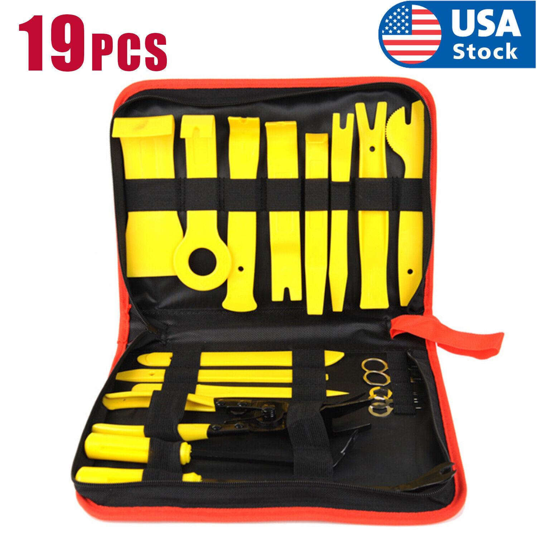 19pcs Trim Removal Tools Car Auto Dash Panel Radio Vedio Installation Kit USA Automotive Tools & Supplies
