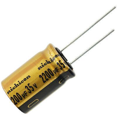 Nichicon Ufw Audio Grade Electrolytic Capacitor 2200uf 35v 20 Tolerance