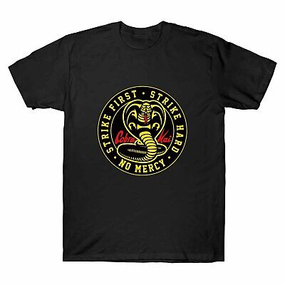 Cobra Kai No Mercy Karate First Strike Hard 80s Film Movie T-Shirt Mens Clothing