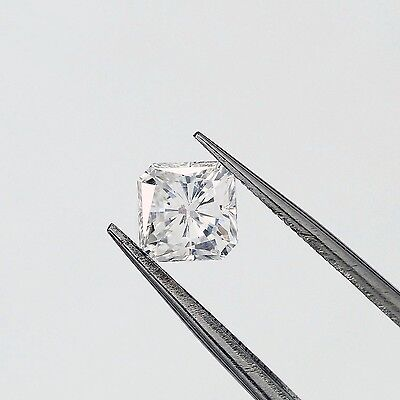 14K Gold 1.17 ct Square Radiant Cut Diamond Solitaire Engagement Ring F SI1 ()