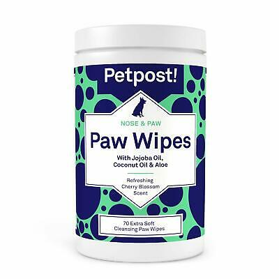 Paw Wipes for Dogs Cleans Soothes Itchy Dog Paws 70 cotton pads NEW SEALED
