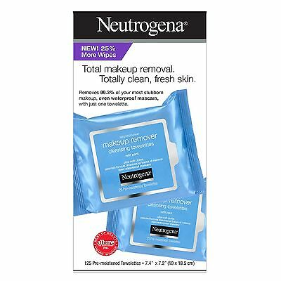 Neutrogena Makeup Remover 125 ct Cleansing Wipes Cloths Towe