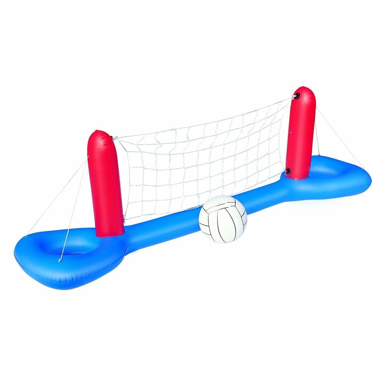BESTWAY 52133 aufblasbares schwimmendes Pool Volleyball Netz 244x64cm mit Ball