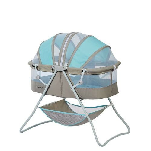 Dream On Me Bassinet Indoor Outdoor Baby Fabric Foldable Canopy Sleeping Pad NEW