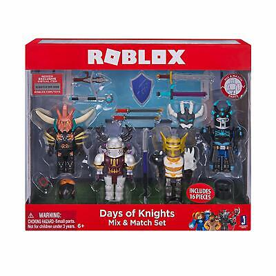 Mix Match Day (Roblox Mix & Match Action Figure 4 Pack, Days of Knight characters toys kids)