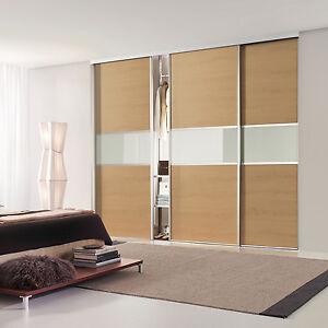 Oak Sliding Wardrobe Doors (Lancaster Oak) - Made-to-Fit your dimensions & space
