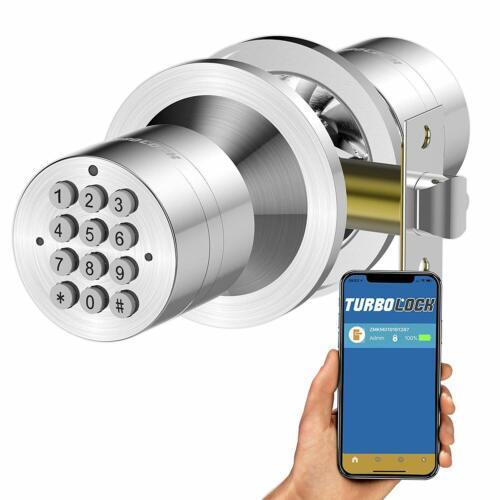 TurboLock TL-99-SS App Bluetooth Smart Lock for Keyless Live Monitoring eKeys
