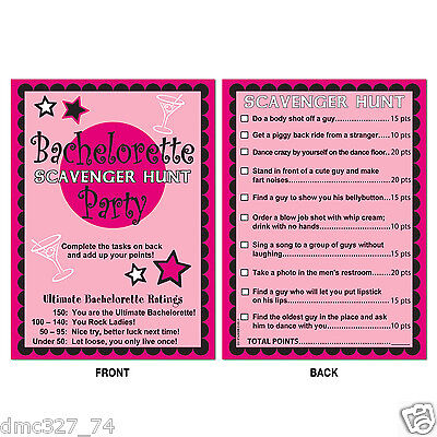 Wedding Bridal Shower BACHELORETTE Party Game Activity SCAVENGER HUNT](Wedding Shower Game)