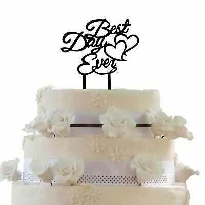 JennyGems Wedding & Anniversary Cake Topper - Best Day (Best Wedding Cake Toppers Ever)