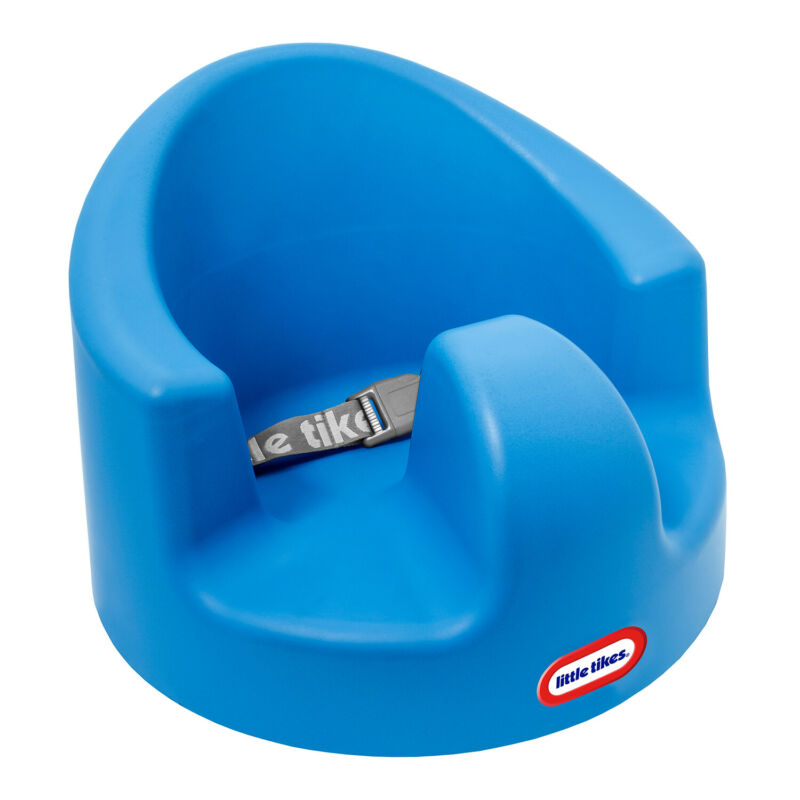 Little Tikes My First Seat Infant Foam Floor Support Baby Chair, Blue (Open Box)