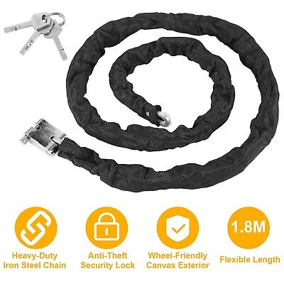 """10 ft 1//8/"""" Anti Theft Security Cable Bike Lock Personal Belongings NON Coat 7x7"""