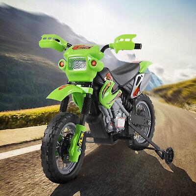 HOMCOM Moto Eléctrica Infantil +3 Año Batería Recargable 6V Cargador Rueda Apoyo