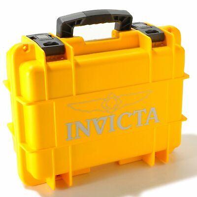 Invicta Box Men's Eight 8 Slot Yellow Box,Diver Box Collecter Case Watch,New