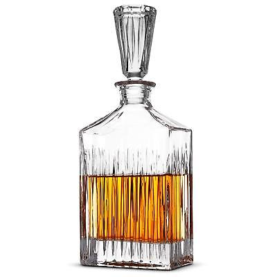 Lens Whiskey Liquor Decanter - High-End Modern Wine Decanter Weighted Bottom