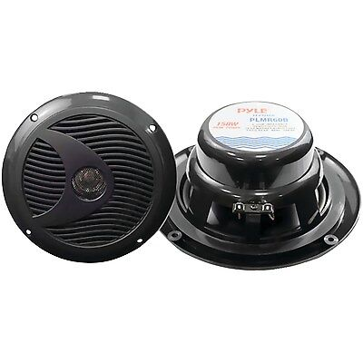 Pyle PLMR60B 6 1/2-Inch Dual Cone Waterproof Stereo Speaker System, Black