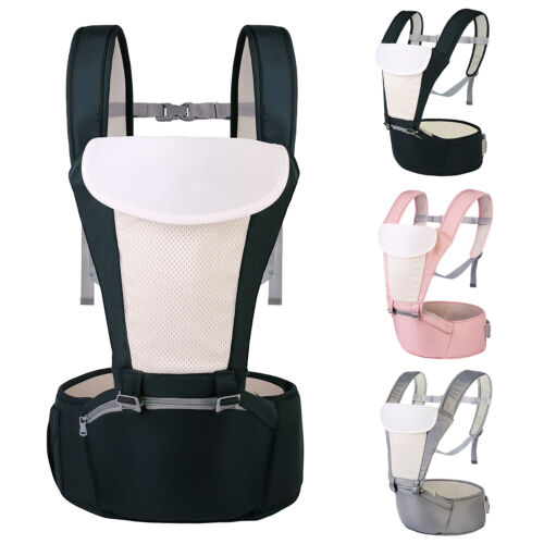 5 in1 Baby Carrier Adjustable Baby Backpack Carrier Newborn to Toddler, Hip Seat