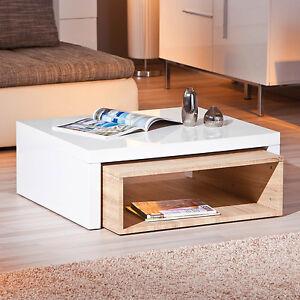 table basse de salon d 39 appoint carr gigogne blanc laqu. Black Bedroom Furniture Sets. Home Design Ideas