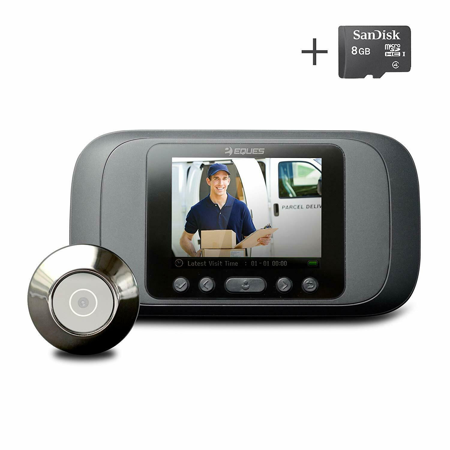 Eques Digital Door Viewer - LCD Security Camera Monitor Vide