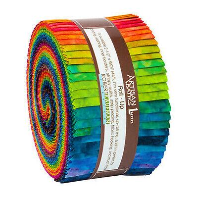 Kaufman Batik Fabric Strips Jelly Roll Rollup, PATINA HANDPAINTS, -