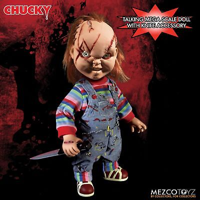 Child's Play Chucky Talking Scarred Mega Scale Doll with Sound 15