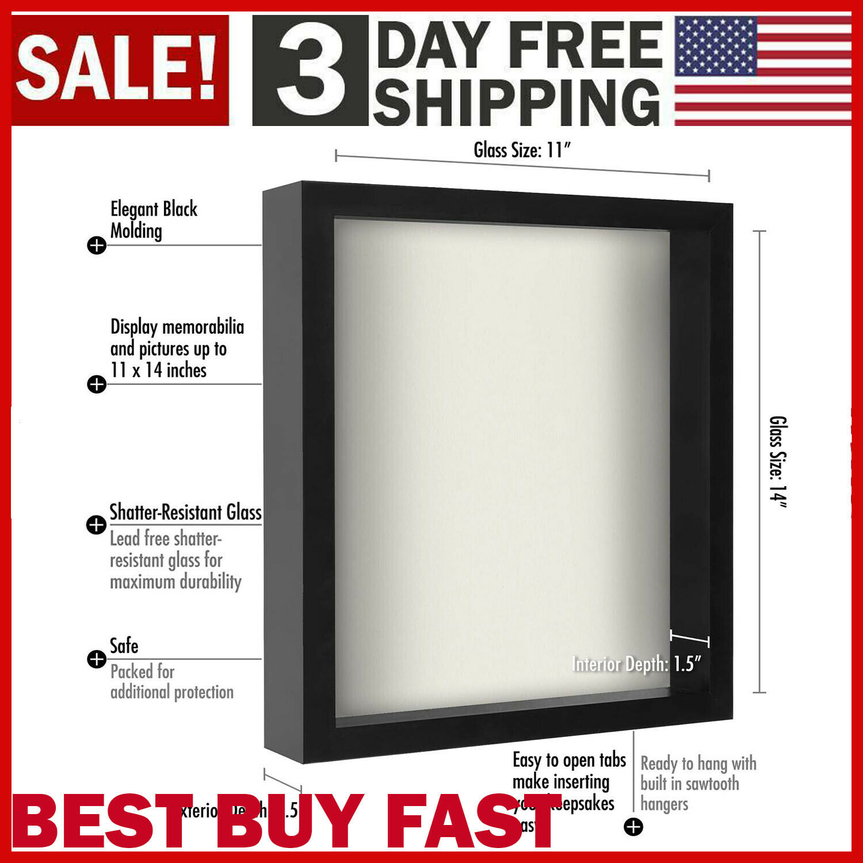 11x14 shadow box frame w soft linen