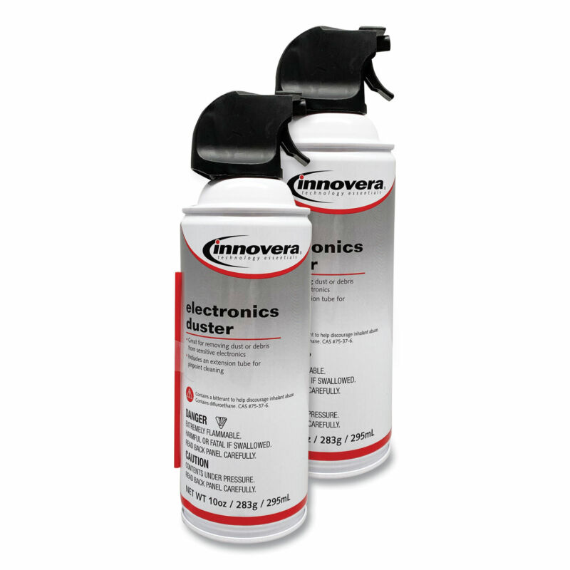 Innovera Compressed Air Duster Cleaner, 10 oz Can, 2/Pack 10012