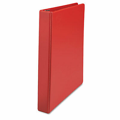 Universal D-ring 3-ring Binder With Label Holder 1 Capacity Red Ea - Unv2076