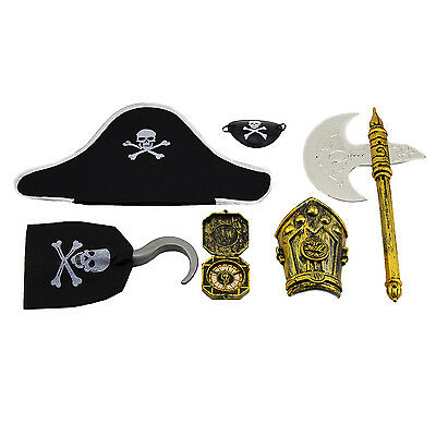 Kids Children Toy Party Accessory Pack Pirate Captain Jack Sparrow Halloween New - Kids Pirate