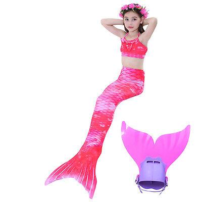 New Girl's 3Pcs Mermaid Tail Swimwear Children Clothing Cosplay Bikini Swimsuit