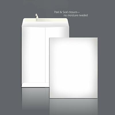 New Catalog Mailing Envelopes Peel Seal 9x12 Inch White 100-pack 28 Pound