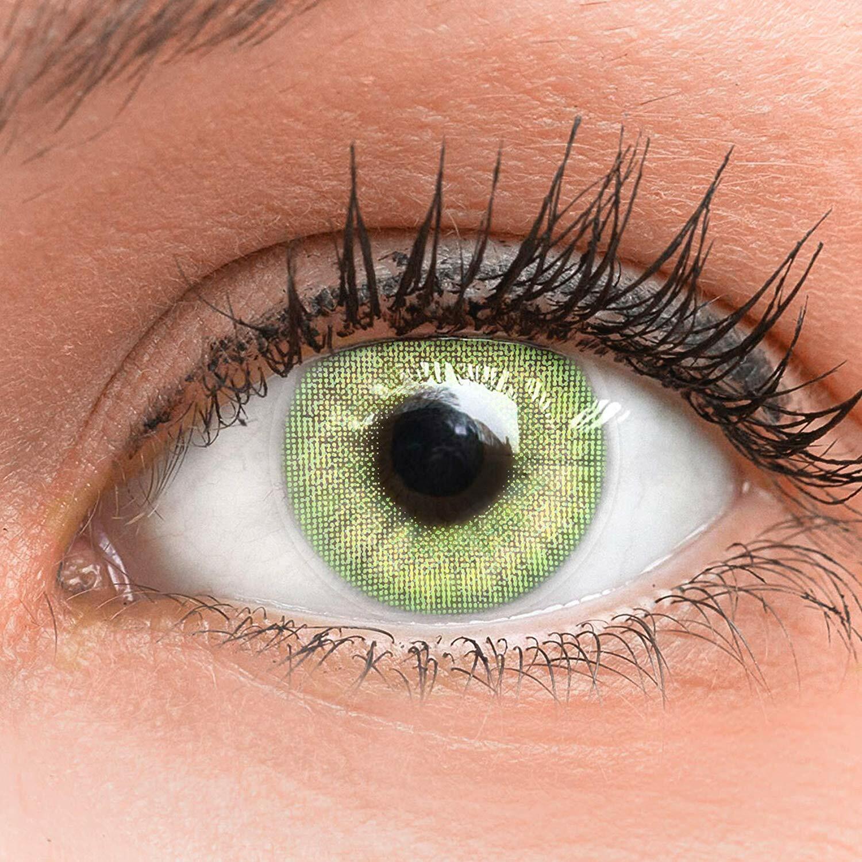 Farbige grüne Silikon Kontaktlinsen mit ohne Stärke weich Jasmine hellgrün green