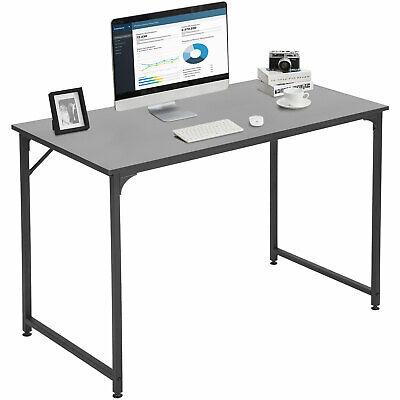 "Computer Desk Home Office Desk 48""W x 24""D Corner PC Wood and Metal, Black Furniture"