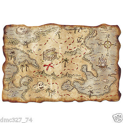 Party Decoration Prop Party Favor PIRATE TREASURE MAP Buried Treasure 12