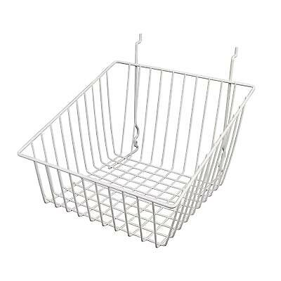 Only Hangers White Tapered Slatwallgridwall Basket 12 X 12 X 8- 6pk