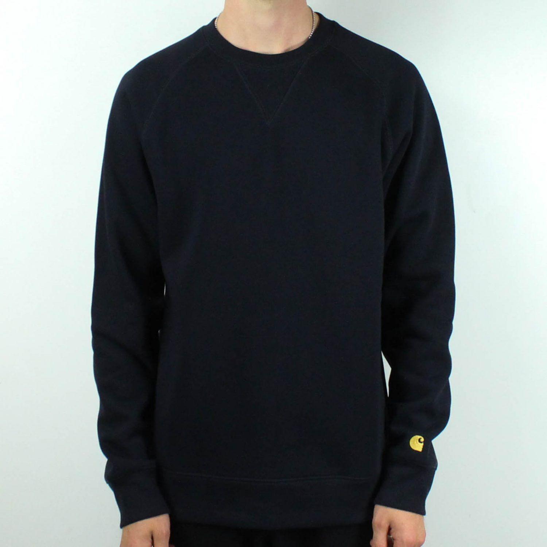 Dark Navy Brand New in S,M,L,XL Carhartt Hooded Chase Sweatshirt Pullover