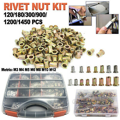 1209001450 Rivet Nut Kit Rivnut Nutsert Assort Nut Setter Thread Setting Tool